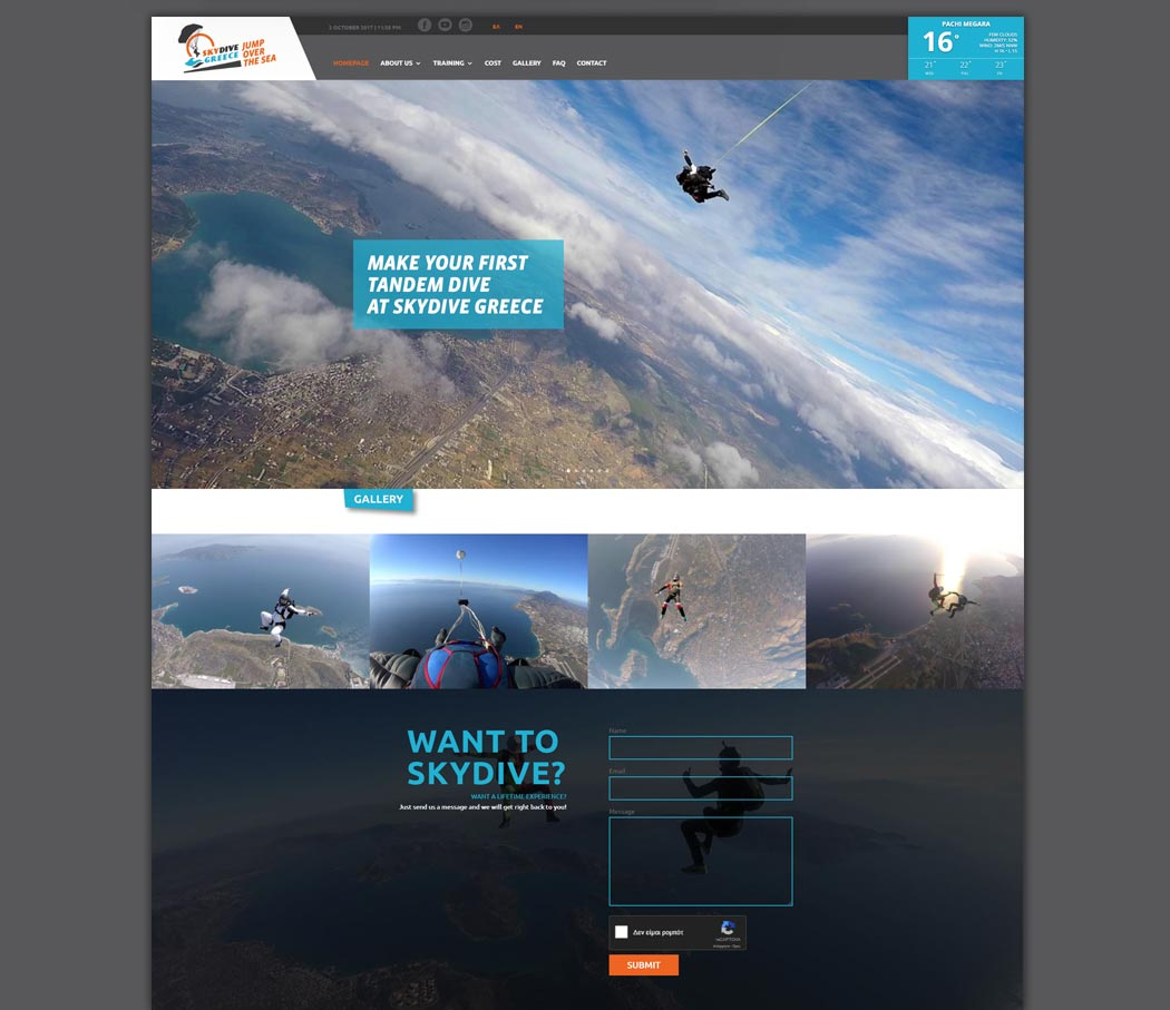 Skydive Greece Website